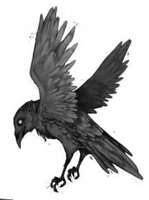 Raven Tattoo Drawings Sketches