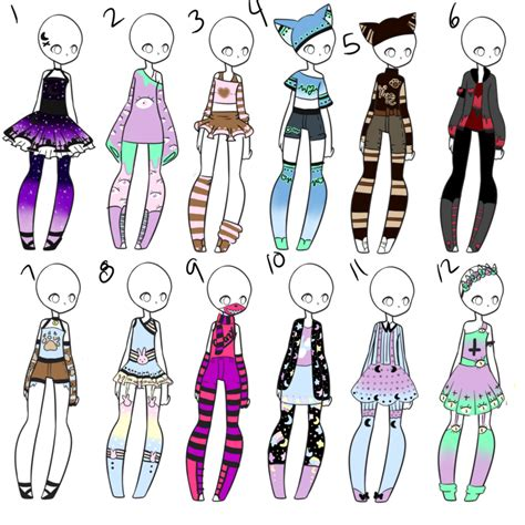 Outfit Adopts 49 by Canaddicted on DeviantArt