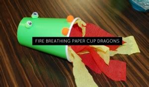fire breathing paper cup dragons