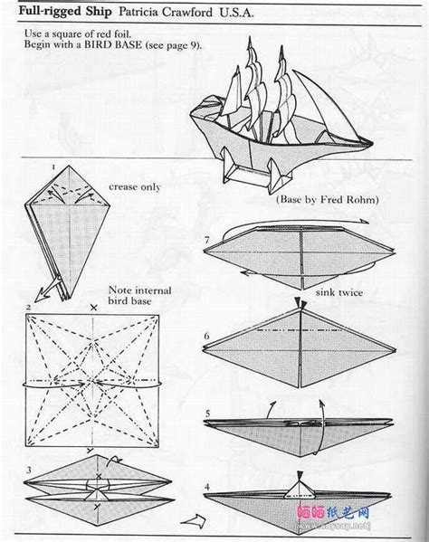Origami Sailing Boat Instructions by Origami Sailing Boat 1 Origami Paper Art Pinterest