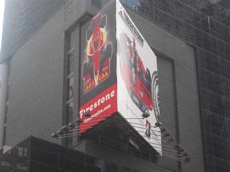 times square billboard features bridgestone firestone