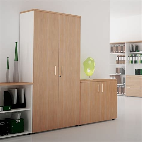 armoir bureau armoire de rangement en bois silver lemondedubureau