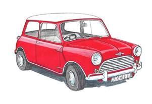 Mini Cooper Car Drawing