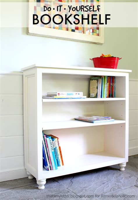 Build Bookcase by Remodelaholic Build A Bookshelf With Adjustable Shelves