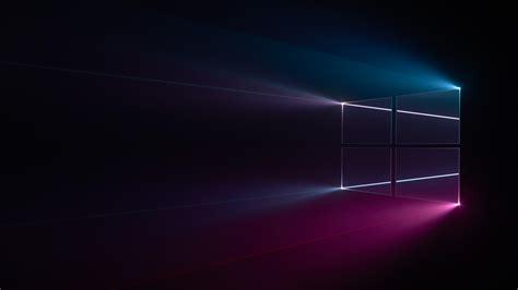 Wallpaper Windows 10, Windows Logo, Blue, Pink, Dark, Hd