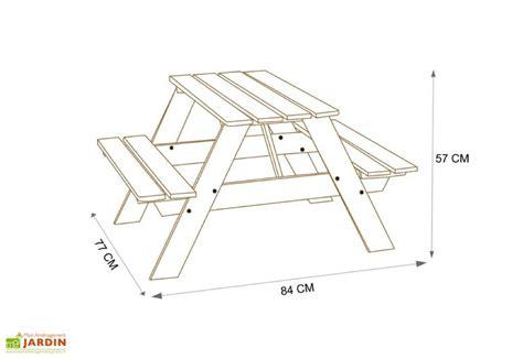 Table Picnic Enfant Bois Verte Amca