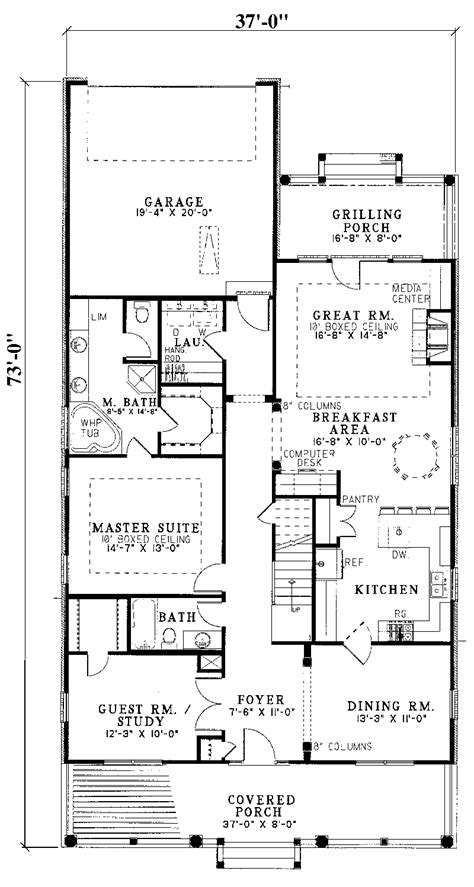 house plans for narrow lots with garage house plans for narrow lots with rear garage cottage