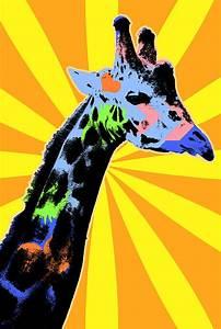 Pop Art Giraffe Digital Art by Pati Photography