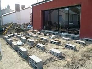 Terrasse Bois Sur Plot Beton : terrasse beton sur parpaing nos conseils ~ Melissatoandfro.com Idées de Décoration