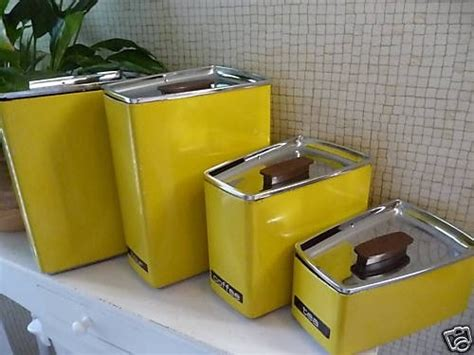 yellow kitchen accessories lincoln beautyware canister set 1211