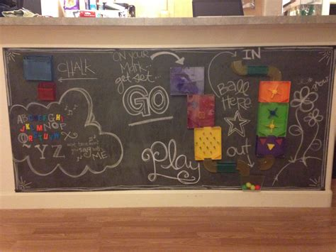 Kids Chalkboard And Magnet Wall Diy-a Mom's Take