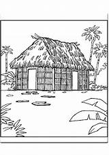 Hut Coloring Designlooter 22kb 842px Drawings Explore sketch template