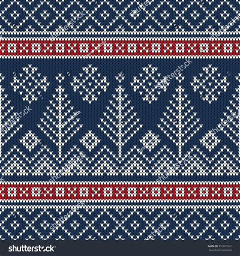 Seamless christmas traditional pattern with deers and snowflakes. Christmas Sweater Design Seamless Knitting Pattern Stock ...