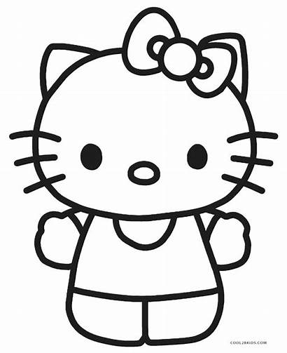 Kitty Hello Coloring Colorear Dibujos Printable Cool2bkids