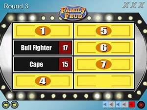 family feud excellent quality powerpoint template mac With family feud customizable template