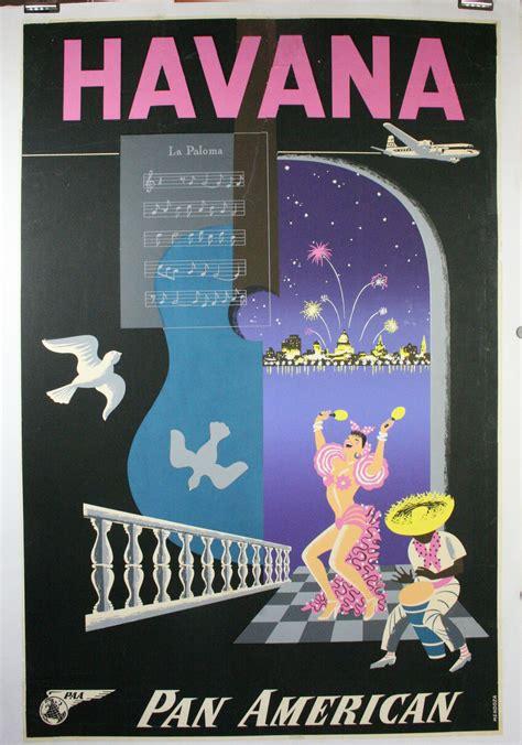 Havana Poster Restoration, Brittle Paper on a Travel Poster