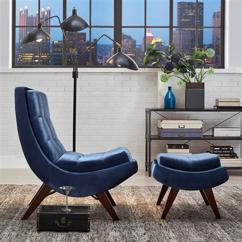 homesullivan blue velvet chair with ottoman 40876s351s 3a
