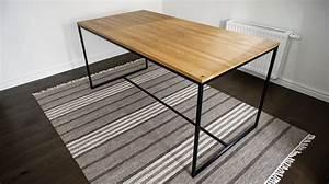 Holztisch Mit Metallgestell : esstisch holztisch schreibtisch elagance oak ~ Markanthonyermac.com Haus und Dekorationen