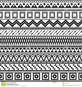 Tribal Striped Seamless Pattern. Stock Photography - Image ...