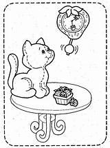 Coloring Kleurplaat Chat Coloriage Mesa Colorir Kleurplaten Shortcake Colouring Poezen Katten Dibujos Strawberry Gatti Kittens Jouet Desenho Disegni Erdbeer Emily sketch template