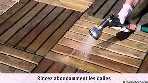 entretenir une terrasse en dalles de caillebotis youtube With faire une terrasse en caillebotis