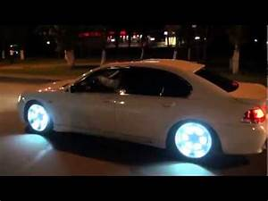 Cool car BMW with neon Rims