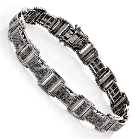 Mens Black Diamond Bracelet 254ct Black Rhodium Sterling. Skull Rings. Crane Watches. Him And Her Wedding Rings. Jaipur Bangles. Onyx Rings. Dog Necklace. Colored Rings. Enamelled Earrings