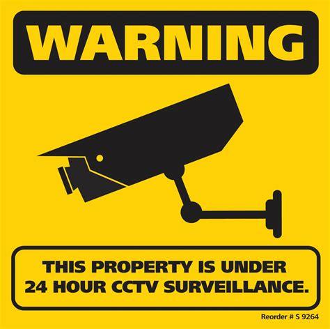 electronic fence 300x300mm cctv surveillance corflute sign global pc