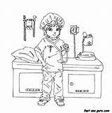Doctor Coloring Pages Printable Playing Woman Preschool Nurse Background Popular Getcoloringpages Coloringhome sketch template
