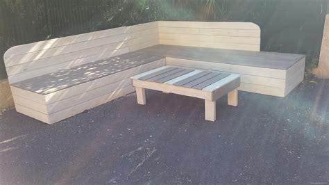 banquette de jardin en bois de r 233 cup 233 ration et sa table