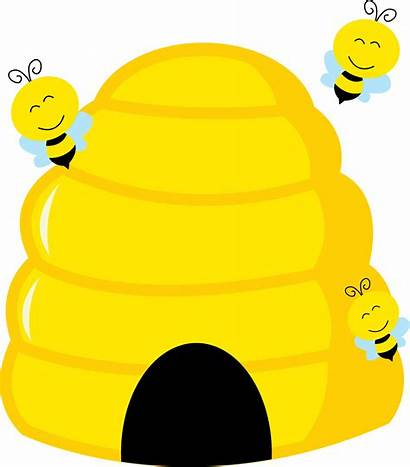 Clipart Bee Bumble Flowers Transparent Bees Beehive