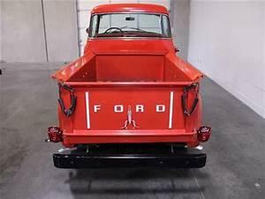 1956 Ford 1  2 Ton V8 Manual Pickup Red