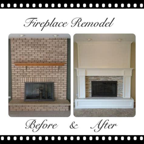 how to redo a fireplace brick fireplace remodel my pins