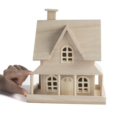 unfinished wood country house wood craft kits wood
