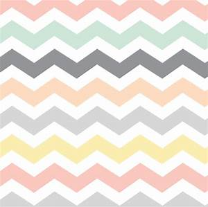 Pastel Chevron : mint grey, peach, yellow & coral pink ...