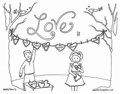 Corinthians Coloring Pages Sheets Children Bible Valentines