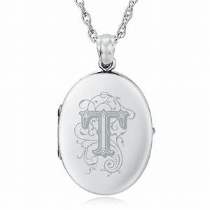 initial letter t sterling silver 2 photo locket can be With letter locket
