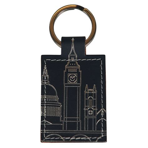 London Skyline Recycled Leather Key Ring At Undercover