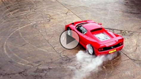 So how does it work? Ferrari F50 sliding and drifting in slow motion!