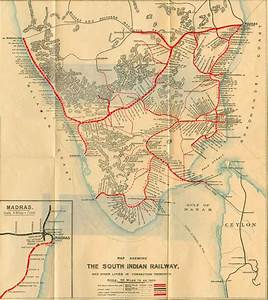 South India Railway Map