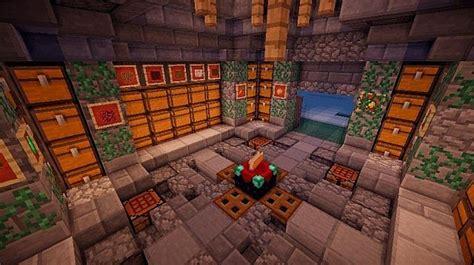 Minecraft Chest Room Design Garden View Landscape