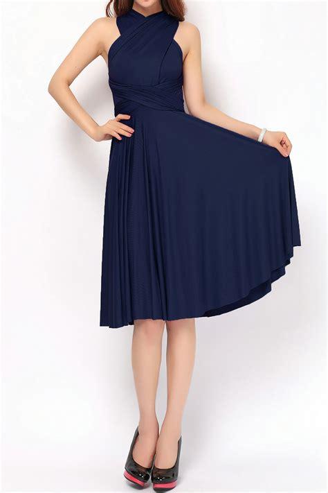 Light Seafoam Green by Navy Blue Short Bridesmaid Dresses Convertible Dress Plus
