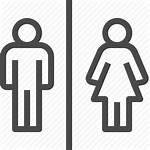 Male Female Bathroom Icon Boy Woman Icons