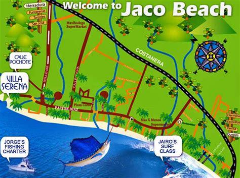 Map of Jaco Beach   Xploratura