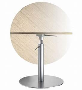 Pied De Table 90 Cm : table hauteur r glable brio 60 cm hpl blanc lapalma made in design ~ Teatrodelosmanantiales.com Idées de Décoration