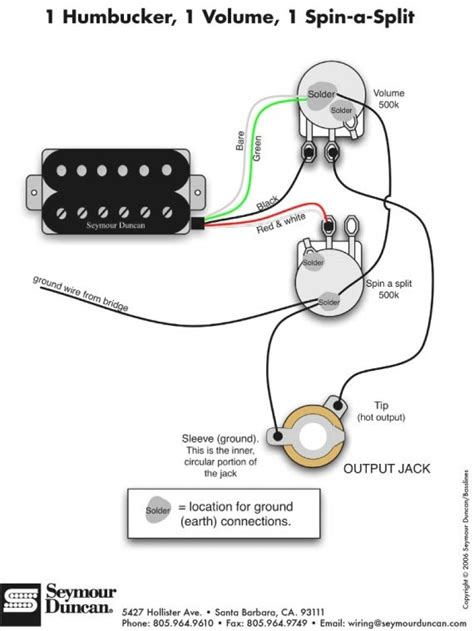 guitar wiring diagrams 1 humbucker 1 single coil auto