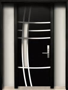 3d home interior design modern wood door with stainless steel design