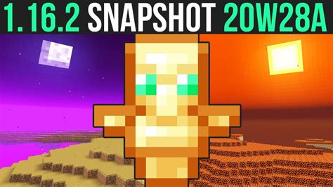 Minecraft Java Snapshot 20w28a Update Released Today