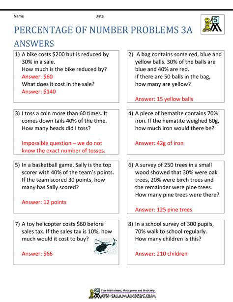 percentage word problems