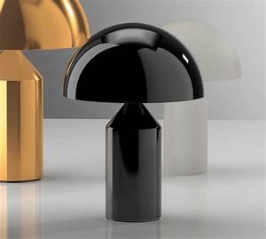 Lampe à Poser Originale : table lamp atollo black h50cm oluce nedgis lighting ~ Dailycaller-alerts.com Idées de Décoration